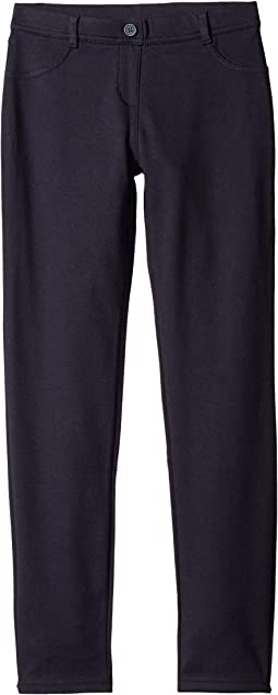 Stretch Interlock Leggings (Little Kids)