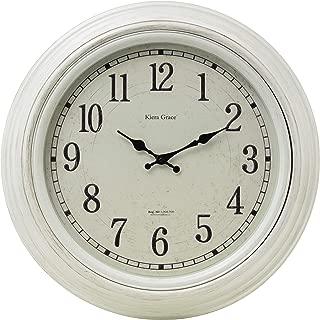kieragrace Farmhouse wall-clocks, White