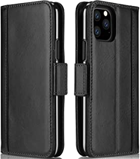 iPhone 11 Pro Max Genuine Leather Case, ProCase Vintage Wallet Folding Flip Case with Kickstand Card Holders Magnetic Closure Protective Book Cover for iPhone 11 Pro Max 6.5 Inch 2019 Release –Black