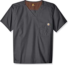 Carhartt Camisa de uniforme médico masculina Ripstop