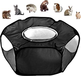 Autolock Small Animals Tent,Reptiles Cage,Breathable Transparent Pet Playpen Pop Open Outdoor/Indoor Exercise Fence,Portab...