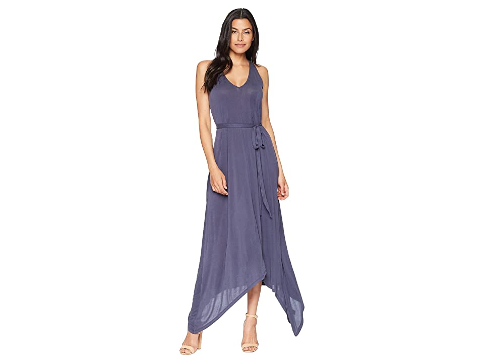 Lucky Brand Sandwash Maxi Dress (Navy) Women