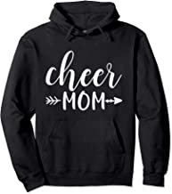 Cheer Mom & Arrow in White Text Cheerleader Gift ACN011b Pullover Hoodie