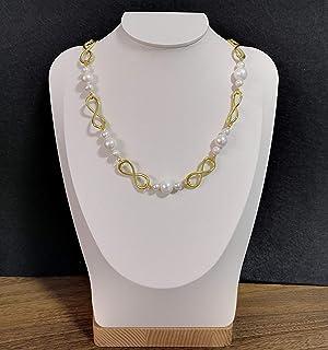 Roman Romance 2019 Serie Civilizaciones Antiguas Hecho a mano Perlas barrocas grandes de 12-13 mm y collar de eslabones de...
