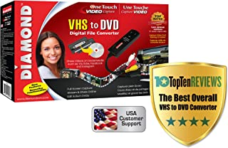 Diamond VC500 USB 2.0 One Touch VHS to DVD Video Capture Device with Easy to use Software, Convert, Edit and Save to Digit...