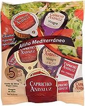 Capricho Andaluz - Bolsa de Aliño Mediterráneo, Contiene 5 Dosis de Aceite de Oliva Ve, 5 de Vinagre y 5 de Sal.