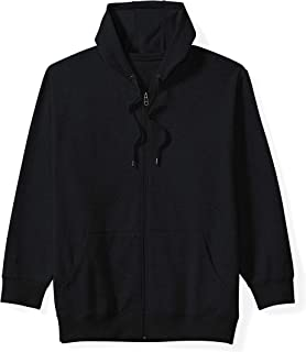 Amazon Essentials Men's Big & Tall Full-Zip Hooded Fleece Sweatshirt fit by DXL