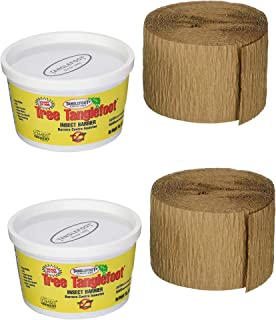 Tanglefoot Ortho Tree Care Kit - Tree Insect Barrier & Tangle-Guard Wrap Combo - 2 Pack