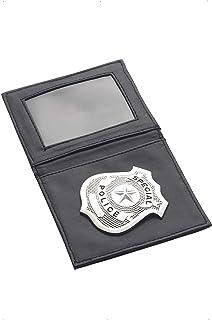 Smiffy's-34040 Placa de policía, en Cartera, Color Plata, No es Applicable (34040)