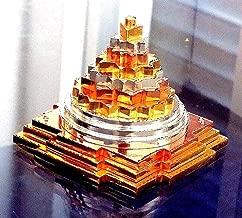Sri Yantra, Shri Meru Yantra, Sri Chakra in Ashtadhatu & Brass gold/silver/copper tone polish sizes 4