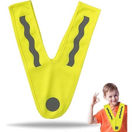 Tk Gruppe Timo Klingler Gelbe Warnweste Reflektor Für Kinder Sicherheitskragen Neongelb V Sicherheitsweste Ultrahell Starkreflektierend Schulanfänger Auto
