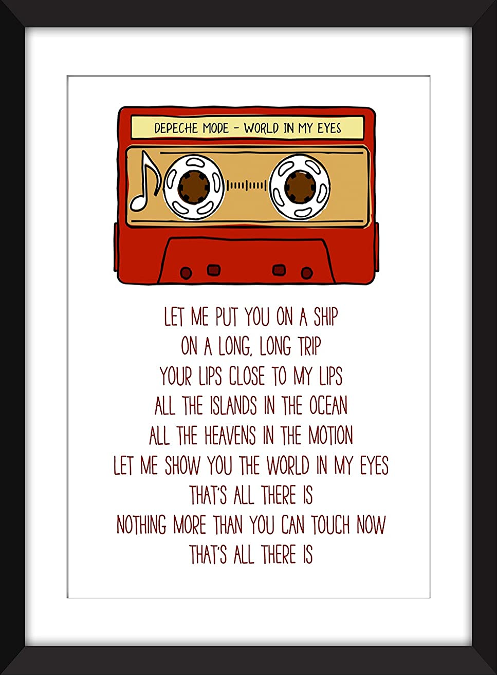 Depeche Mode World In My Eyes Lyrics, Unframed Print