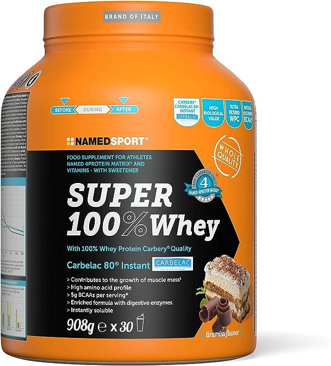 Namedsport super 100% whey tiramisu, 908 gr 1FO-POW-S100-1-04