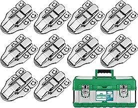 KARAA 10 stuks koffersluiting klapsluiting spansluiting antieke doos zilver slot gesp voor medicijnbox airbox cosmeticakof...