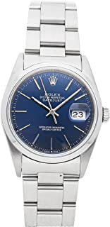 Rolex Datejust Mechanical (Automatic) Blue Dial Mens Watch 16200 (Certified Pre-Owned)
