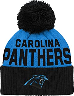 NFL Carolina Panthers Infant Outerstuff Jacquard Cuffed Knit Hat With Pom, Team Color, Infant One Size