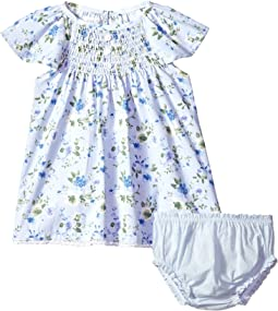 Mud Pie - Floral Smocked Dress with Bloomers (Infant)