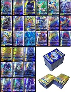 Dorara 200 Piezas Pokemon Tarjetas GX sin repeticiones, Tarjetas Flash de Pokemon, Juego de Cartas Puzzle Fun, Cartas cole...