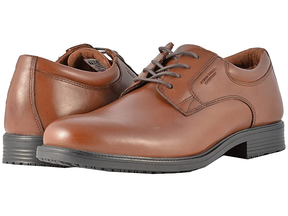 Rockport Essential Details Waterproof Plain Toe Oxford (Tan Antique Leather) Men