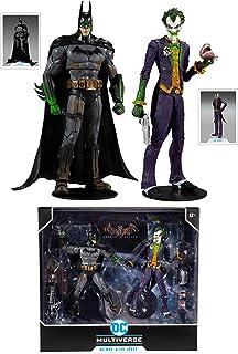 """McFarlane DC Multiverse Batman Arkham Asylum - Batman and Joker (Variant) 7"""" Inch Action Figure 2-Pack"", 15452-8"