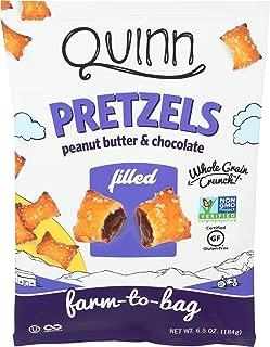 Quinn, Peanut Butter & Chocolate Filled Pretzels, 6.5 Ounce