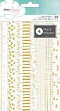 American Crafts 32 Piece Dear Lizzy Documentary Gold Foil Washi Book 4 Sheets