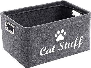 Morezi Felt Pet Toy and Accessory Storage Bin, Basket Chest Organizer - Perfect for Organizing Pet Toys, Blankets, Leashes...