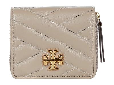 Tory Burch Kira Chevron Bifold Wallet (Gray Heron) Handbags