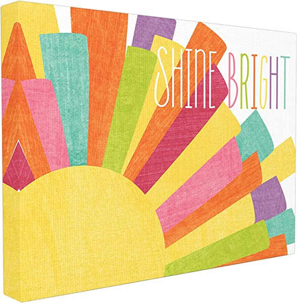 Stupell Home D Cor Shine Bright Colorful Sun Illustration Oversized Stretched Canvas Wall Art 24 X 1 5 X 30 Proudly Made In USA