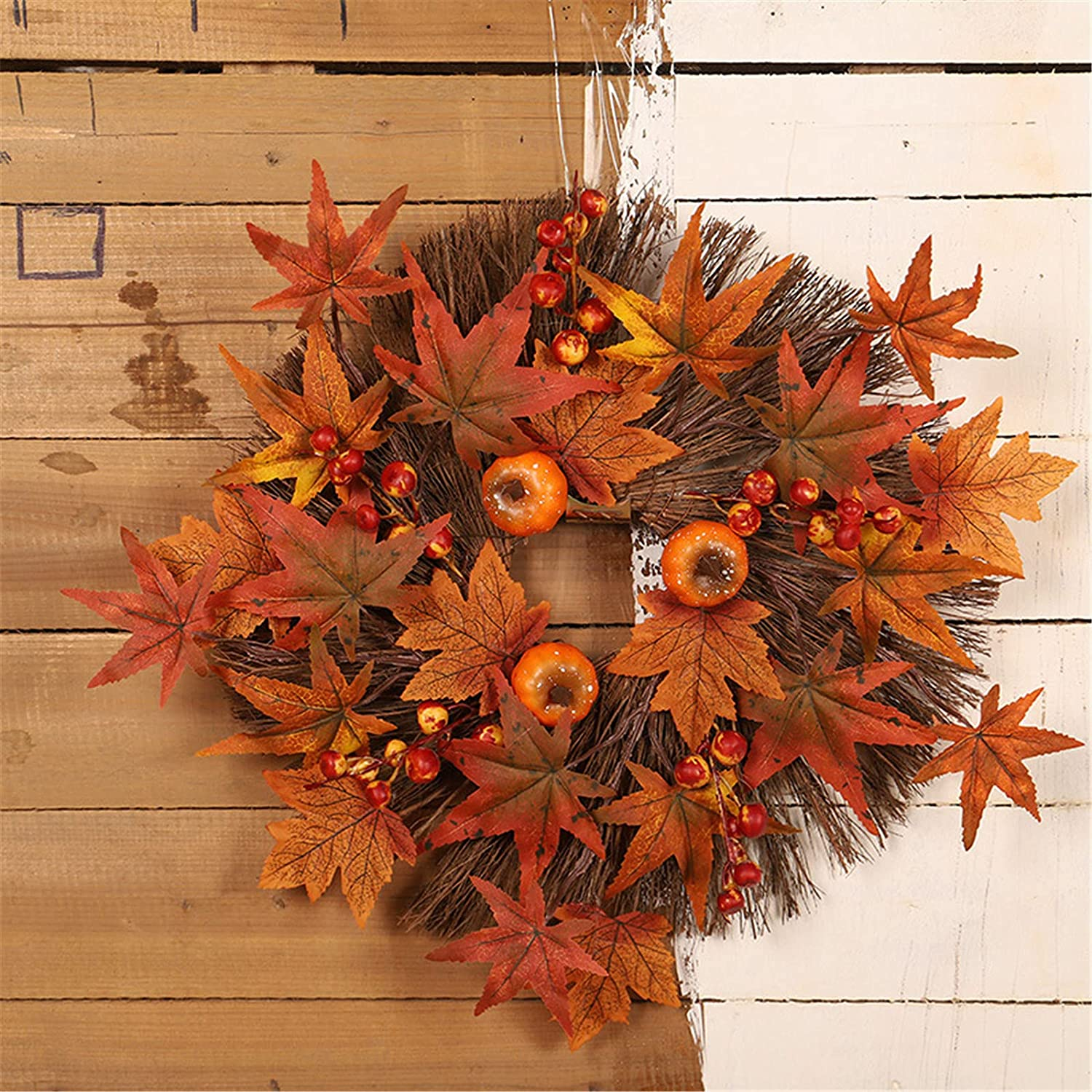Thanksgiving Max 48% OFF House Number Autumn Color Challenge the lowest price Maple Pumpkin Simulation