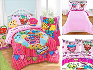 Shopkins Kids 4 Piece Bed in a Bag Twin Bedding Set - Reversible Comforter, Microfiber Sheets & Pillow Case by Moose Shopkins