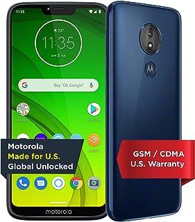 Moto G7 Power with Alexa Push-to-Talk – Unlocked – 32 GB – Marine Blue (US Warranty) – Verizon, AT&T, T–Mobile, Sprint, Bo...