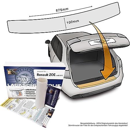 Passend Für Renault Zoe Ab Bj 2012 Passform Lackschutzfolie Als Selbstklebender Ladekantenschutz Autofolie Und Schutzfolie Transparent 150µm Auto