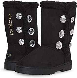 Girl's Fur Lined Winter Boot with Rhinestone Details...