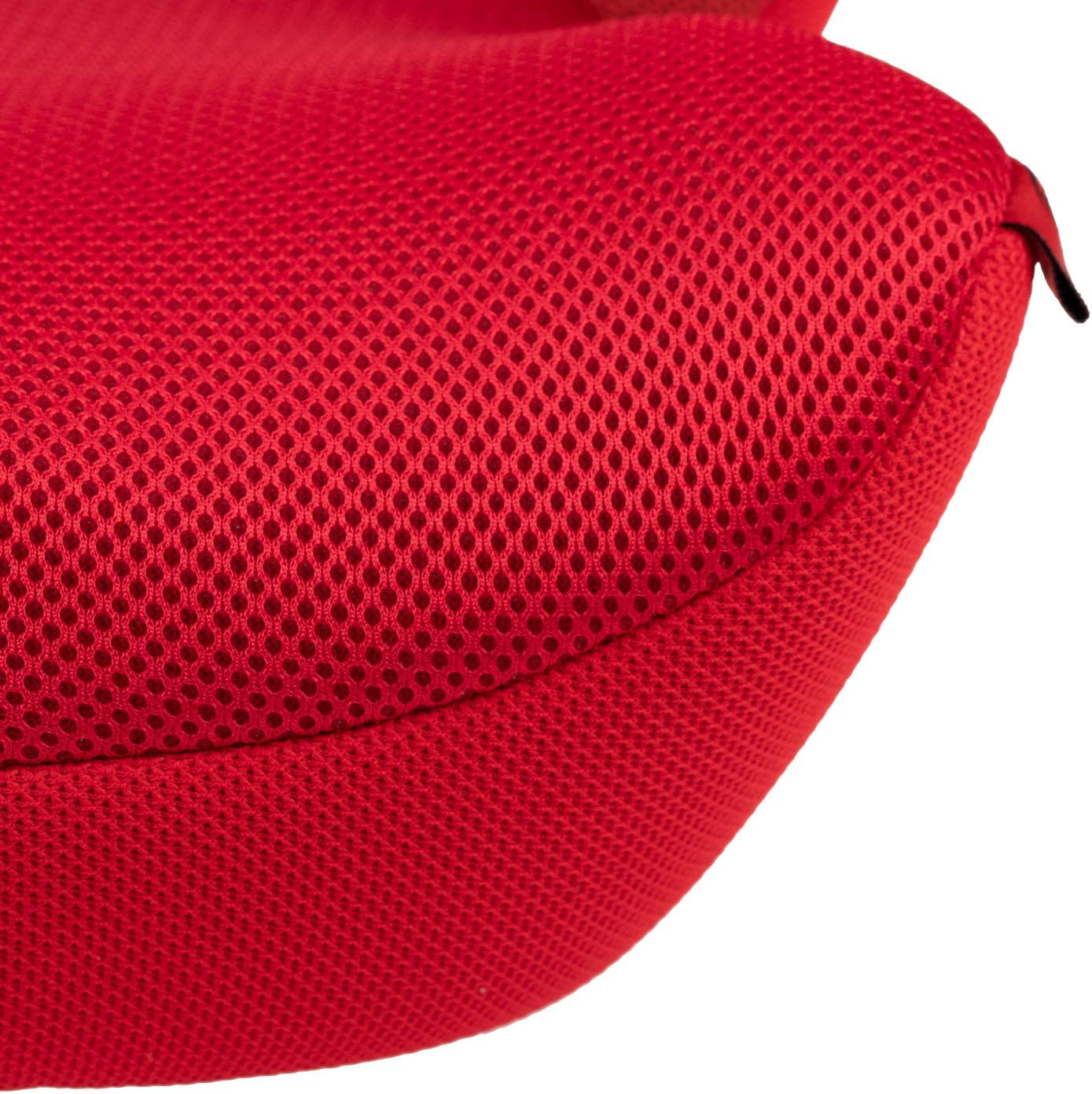 Racing Red Premium HEYNER SafeUp Ergo L Child Car Booster Seat Cushion Junior 4-12 Years With Soft Belt Pad
