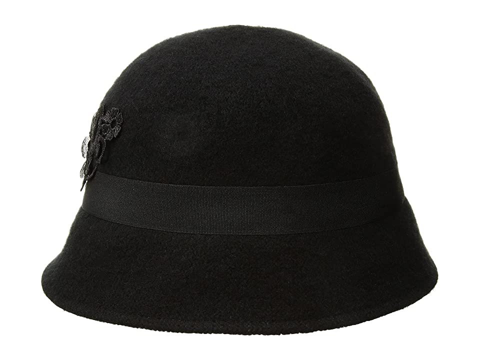 1920s Style Hats Betmar Mindenhall Black Caps $45.00 AT vintagedancer.com