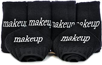 Chakir Turkish Linens Dobby Border Luxury Black Cloth Turkish Cotton Make up Cleansing (Set of 6)