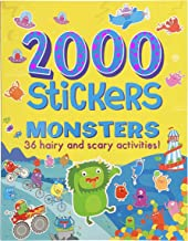 2000 Stickers Monsters Activity Book: Includes 36 Hairy and Scary Activities!