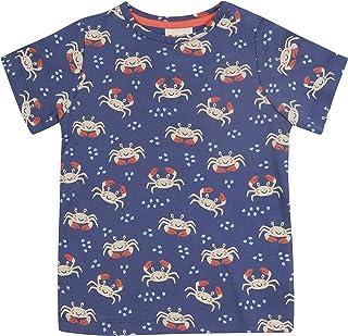 Piccalilly T-shirt pour enfant en jersey organique léger unisexe - Motif crabe