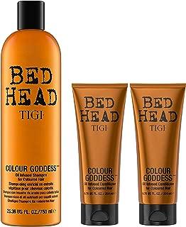 Bed Head Color Goddess Shampoo 25.36 Fl Oz, and (2) Color Goddess Oil Infused Conditioner 6.76 Oz