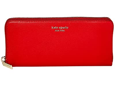 Kate Spade New York Margaux Slim Continental Wallet (Hot Chili) Checkbook Wallet