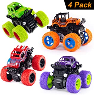 Anaoer Monster Trucks Inertia Car Toys - Friction Powered Car Toys for Toddlers Kids Birthday Christmas Party Supplies Gif...