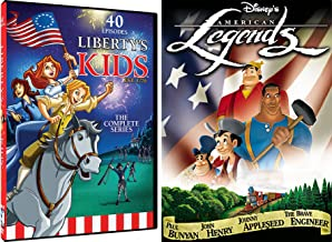 American Animated Story DVD Disney Legends & Liberty Kids 40 Episodes Revolution Benjamin Franklin Double Feature Cartoons
