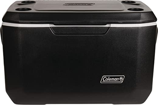 Coleman Xtreme 5 Cooler | 70 Quart Day Cooler | Hard Cooler Keeps Ice Up to 5 Days, Black
