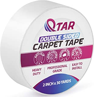 Removable Double Sided Carpet Tape, Heavy Duty Sticky tape, 2 Inch X 30 Yards, Rug Tape Anti-Slip for Area Rugs, Hardwood Floors, Stair Treads, Rugs, Carpet Over Carpet Seam Tape Adhesive