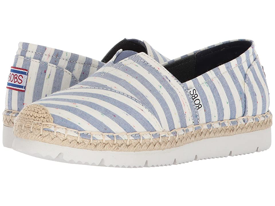 BOBS from SKECHERS Flexapadrille 2 Charter Party (Natural Blue) Women
