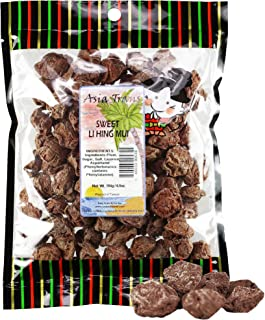 Asia Trans Sweet Seeded Li Hing Mui Crack Seed Plums | Hawaiian Favorite | Naturally Sweet Dried Asian Plum Candy (6.5 oz)