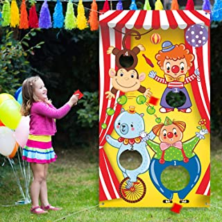 Carnival Toss Games with 3 Bean Bag, Fun Carnival Game for Kids and Adults in Carnival Party Activities, Great Carnival Decorations and Suppliers (Circus Animal)