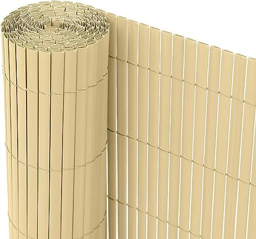 Ribelli® PVC Sichtschutzmatte Sichtschutzzaun Sichtschutz Zaun Balkon Windschutz (160 x 500 cm, Braun)