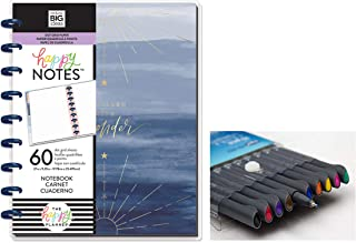 me & My Big Ideas: Medium/Classic Happy Notes Boho Wonder Notebook and Comes with Kemah Craft 10 Pc Fineliner Color Pen (PLNO-19)